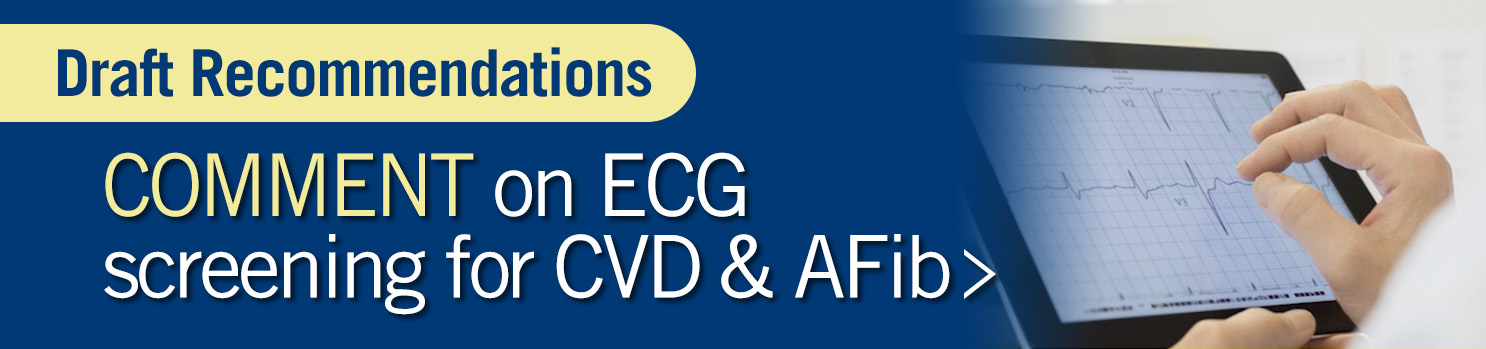 Draft Recommendations: Comment on ECG Screening for CVD and AFib