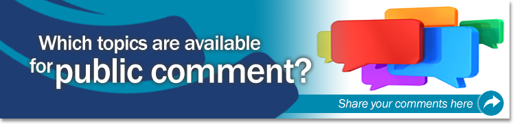 Which Topics Are Available for Public Comment Banner