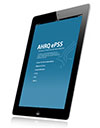 Image of iPad with AHRQ ePSS page