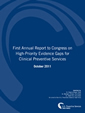 First Annual Report to Congress on High-Priority Evidence Gaps for Clinical Preventive Services